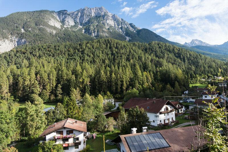 пейзаж у кемпинга Rossbach, Альпы, Австрия