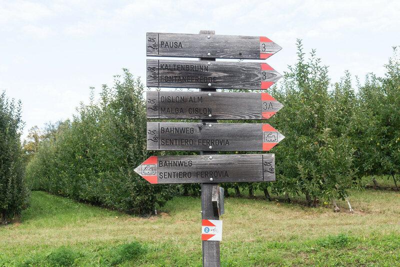 указатели вело-маршрутов в Альпах