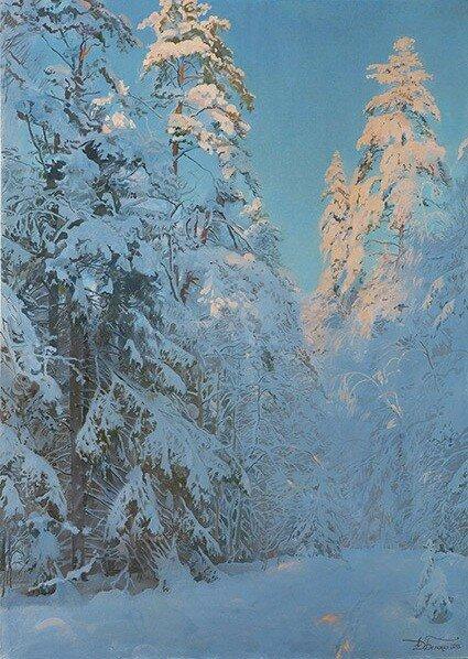Солнечный день в зимнем лесу. 2013.jpg
