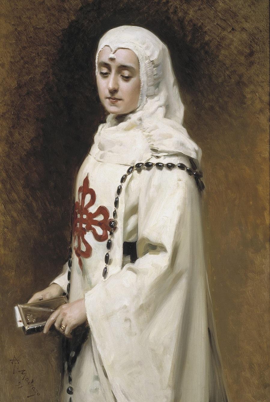 1891_Актриса Мария Герреро в образе Доньи Инес (The Actress Maria Guerrero as Dona Ines)_115.5 х 74_х.,м._Мадрид, музей Прадо.jpg