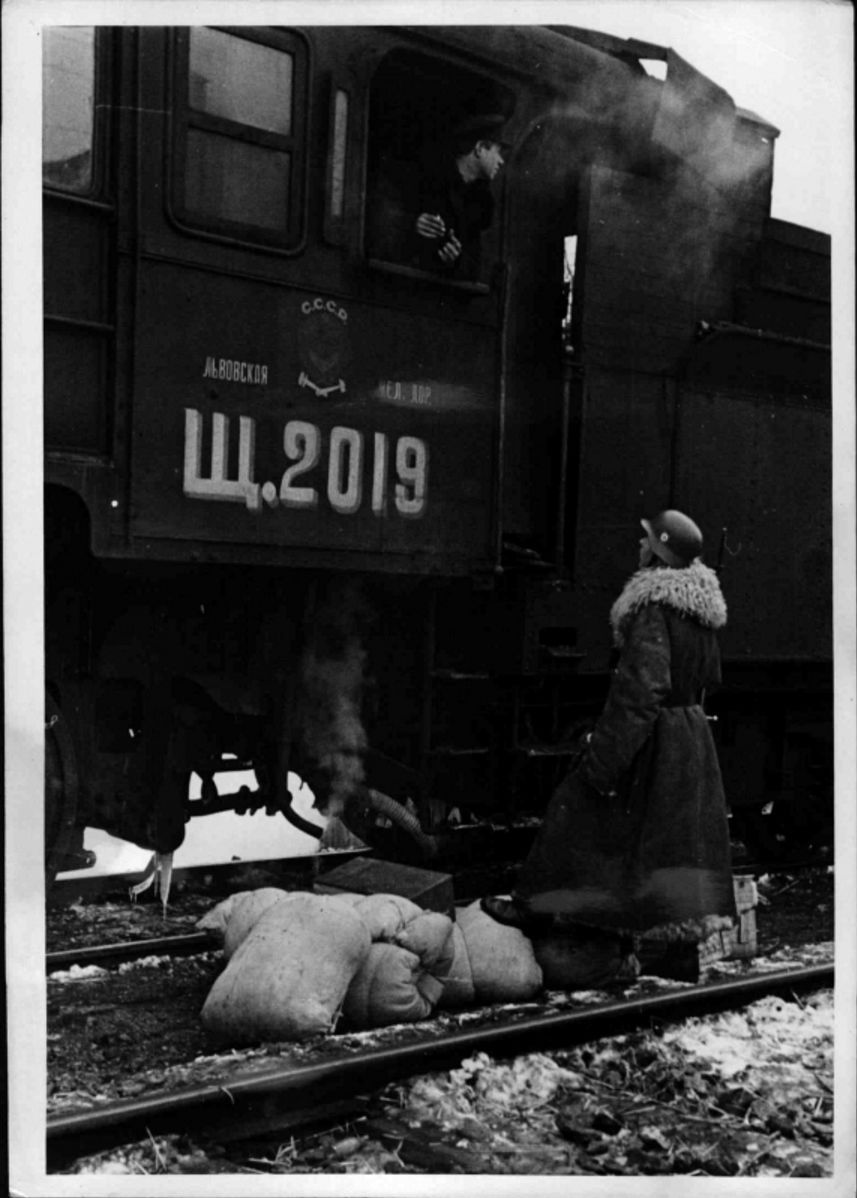 1940. 07.02. Прибытие российского эшелона с нефтью на товарную станцию Перемышль