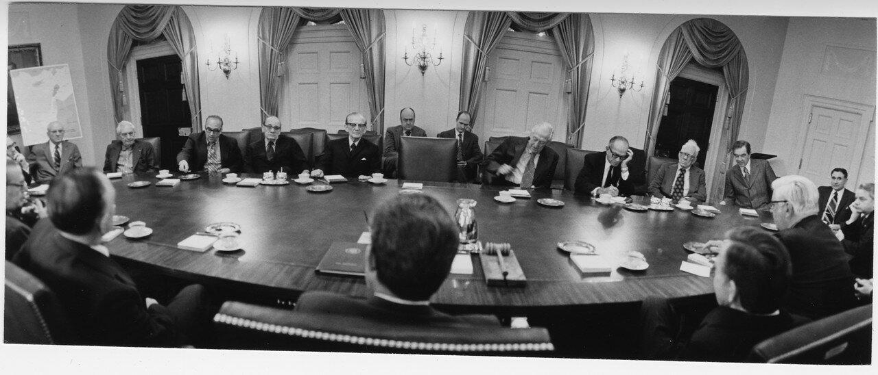 Двухпартийное совещание по вопросу войны в Вашингтоне 10 октября 1973