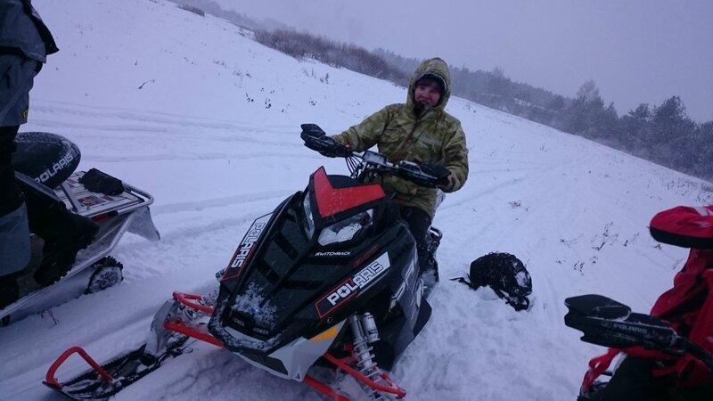 Тестирование снегоходов Polaris