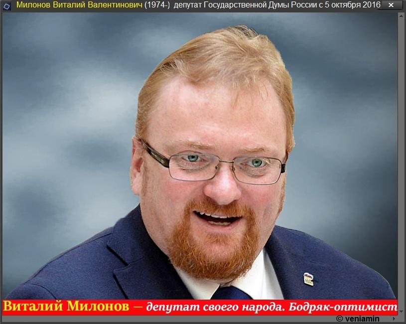 Милонов Виталий, депутат Госдумы России, рамка