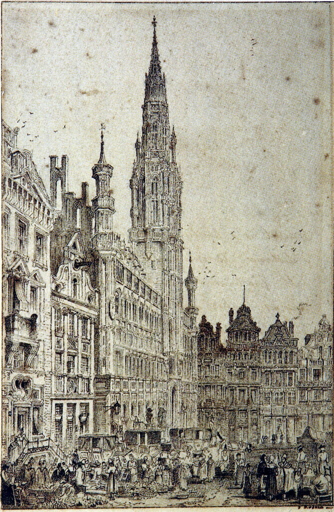 Hotel de Ville, Brussels, after Samuel Proust 1833.jpg