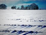 Снег лежит как раскрытая книга...