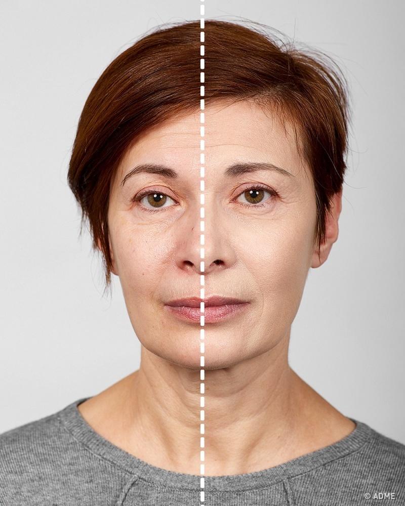 Для возрастного макияжа желательно использовать мелкодисперсную светоотражающую базу (основу под мак