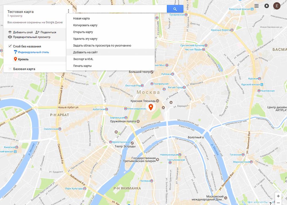 Как создать свою карту гугл - Альтаир и К