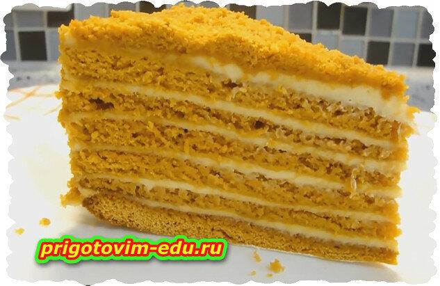 Торт Медовик — простой видео рецепт