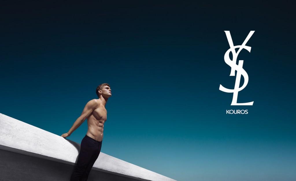 Mias van der Westhuyzen for YSL Kouros Silver (2 pics)