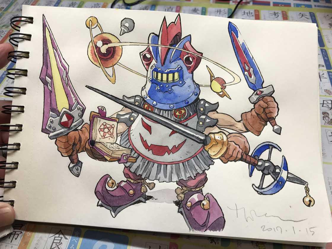 Il transforme les dessins de son fils en personnage de manga badass
