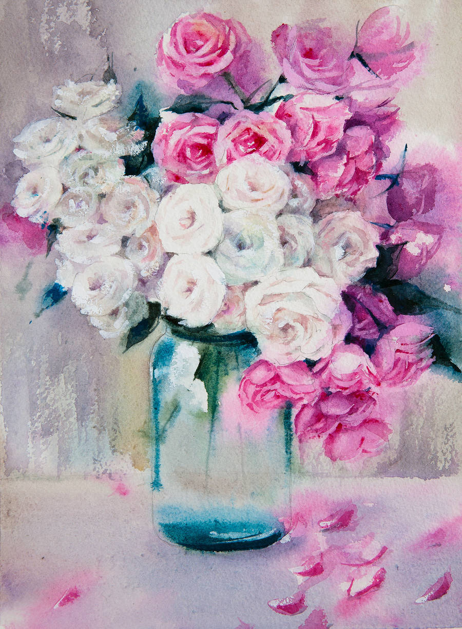 Poetic & Realistic Flowers Watercolor Paintings