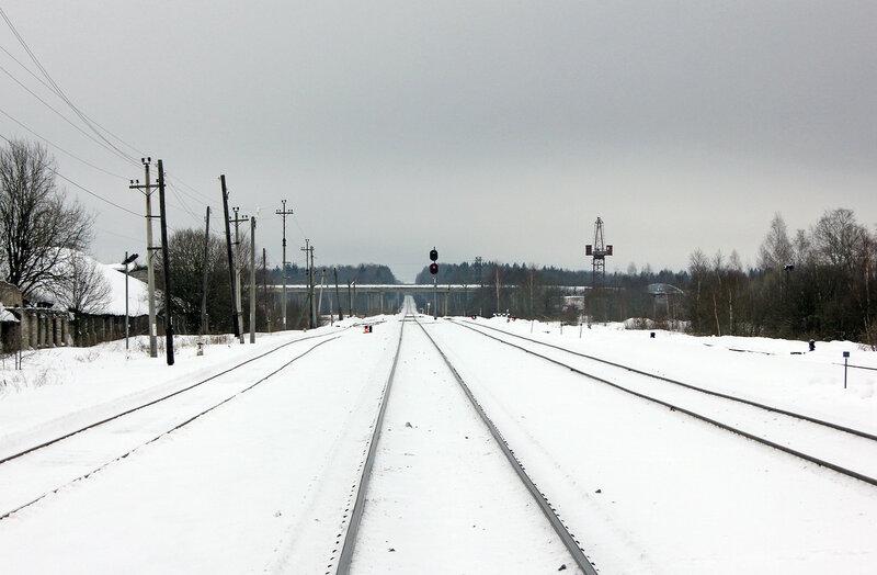 Станция Старица, вид на Ржев и путепровод