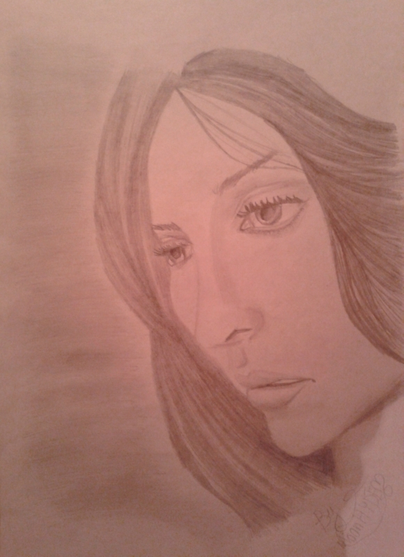 Рисунок девушки Carla Hernandez