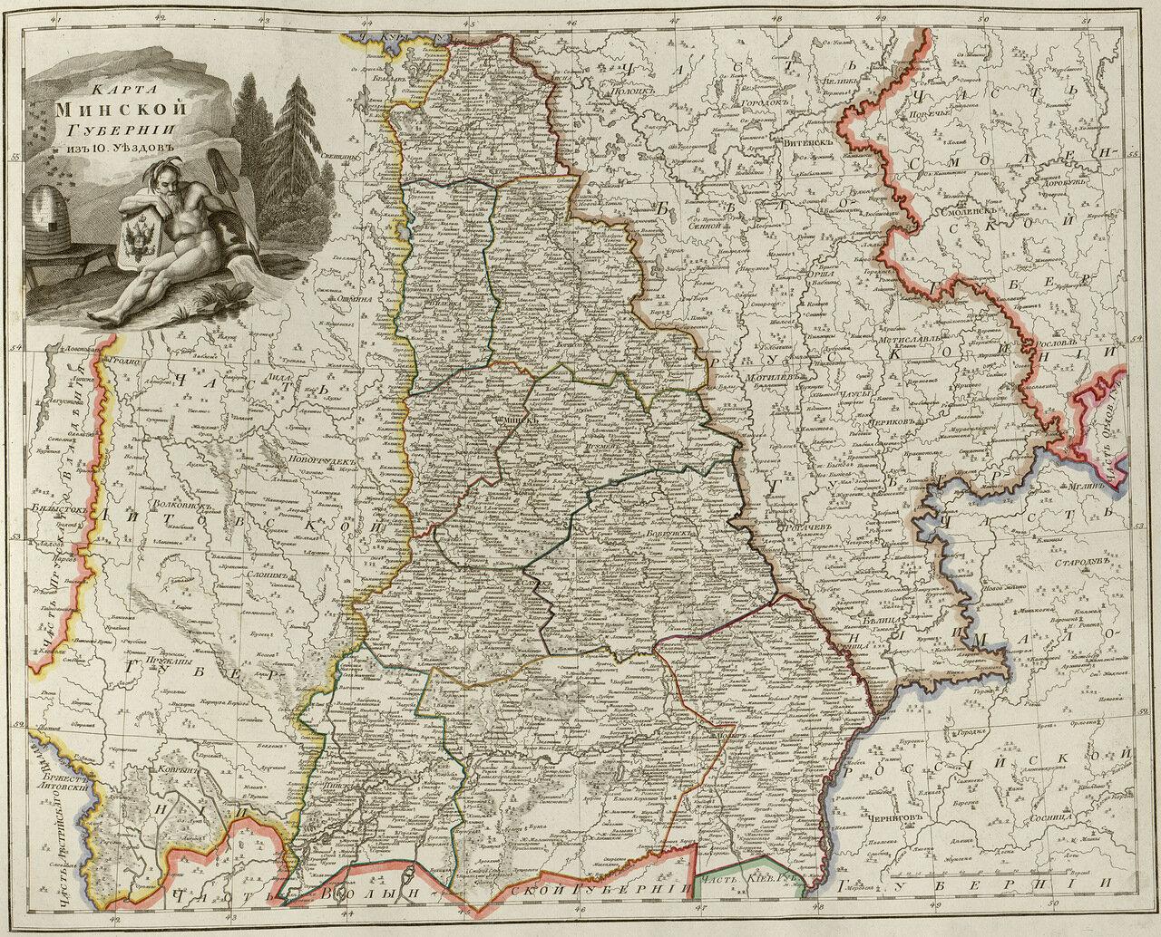 19. Карта Минской губернии