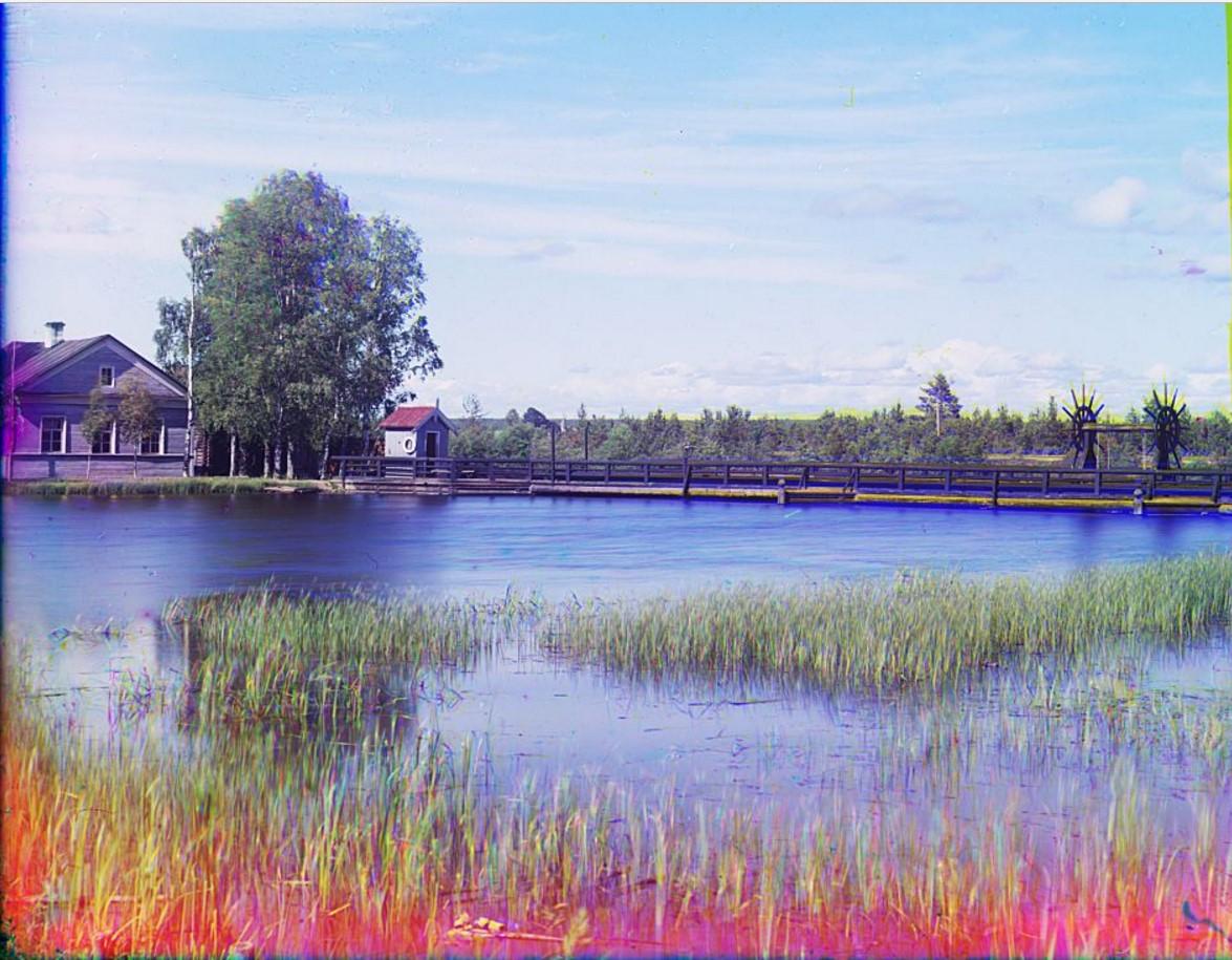 Плотина Св. Ксении близ г. Вытегра