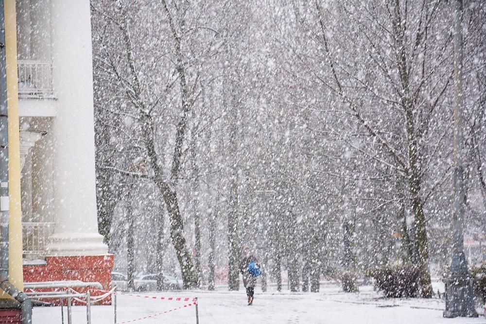 Снег в Орле