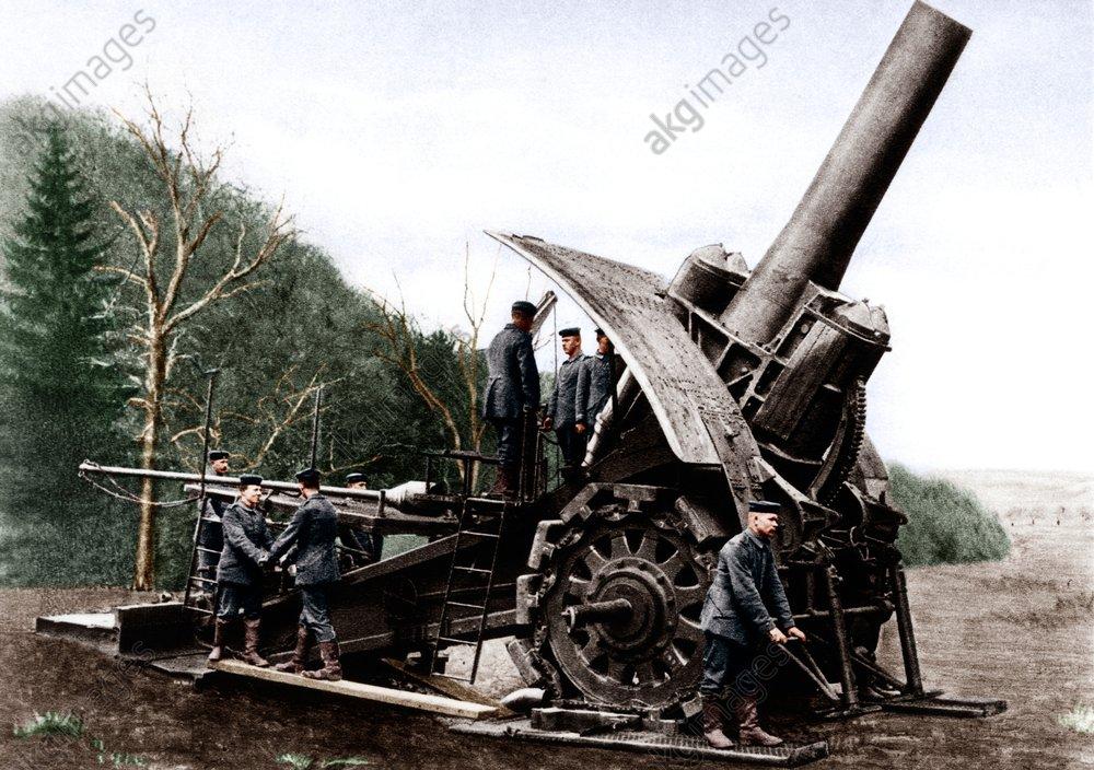 1.WK./dt.Artillerie/Mцrser (Dicke Berta) - WWI / German Artilly / Howitzer (Big Bertha) -