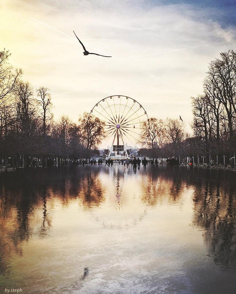 Красочные фотографии улиц Парижа