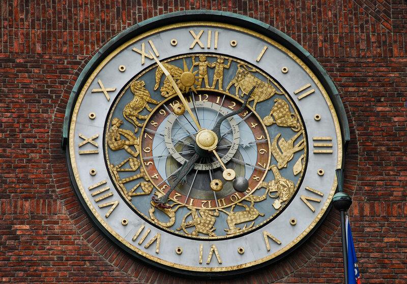Астрономические часы в Осло.