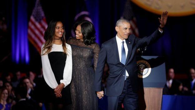 Обама несдержал слез, выговаривая  прощальную речь