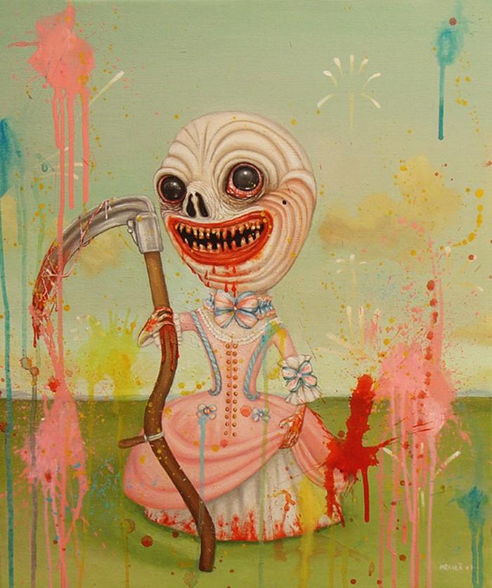 Майя Мякила Шведская художница, которой поставлен диагноз «шизофрения». Она проживает в небольшом го