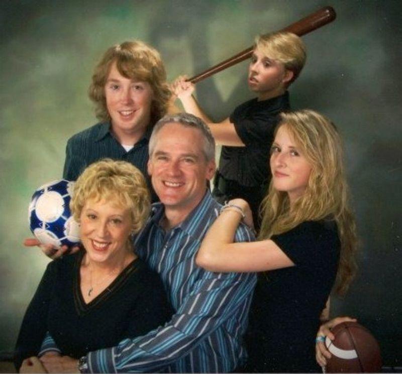 7. У этой прекрасной пары очень спортивные дети.