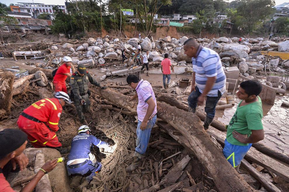 7. Последствия селевого потока. Мокоа, Колумбия, 3 апреля 2017. (Фото Jaime Saldarriaga   Reute