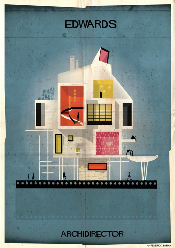 Как бы выглядели дома культовых кинорежиссёров, если бы строились по их собственным фильмам