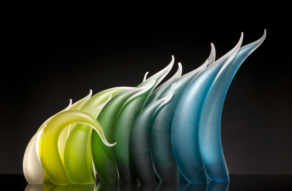 Undulating Glass Sculptures by Rick Eggert