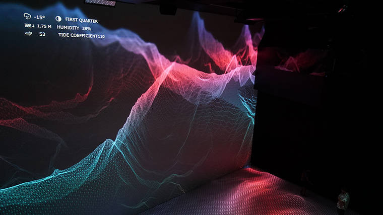 FLOW - Representing nature with waves of real-time data