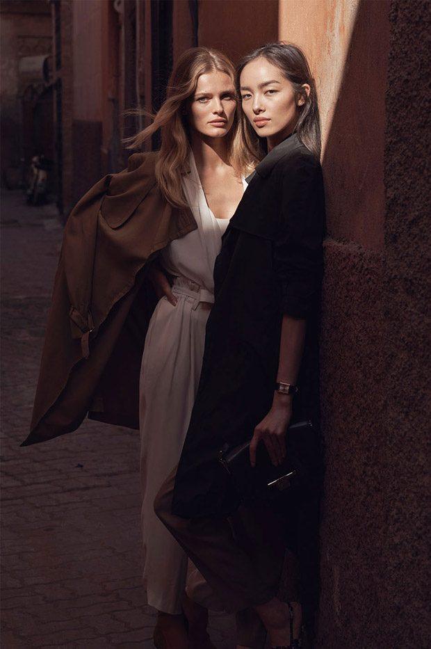 Edita Vilkeviciute & Fei Fei Sun Star in Massimo Dutti Spring Summer 2017 Ads