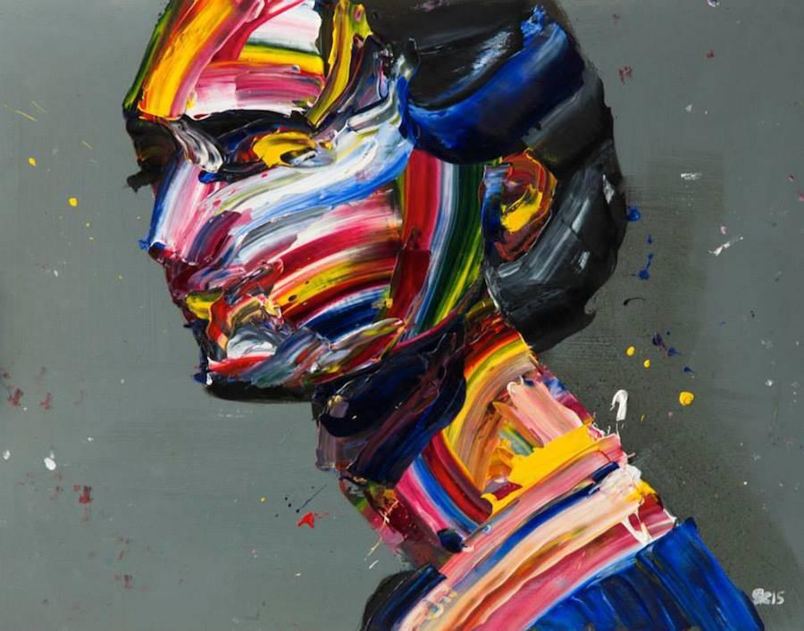 Impressive Multicolored Palette Knife Portraits