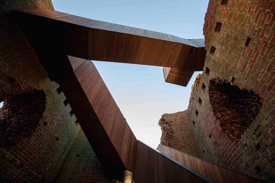 Amazing Modern Stairs in a Medieval Tower in Denmark