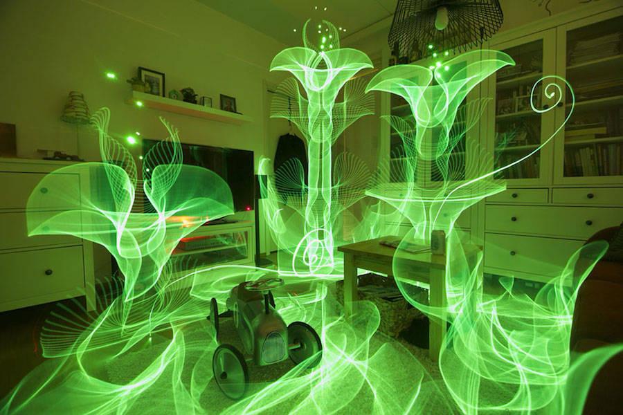 Impressive In-Camera Light Paintings