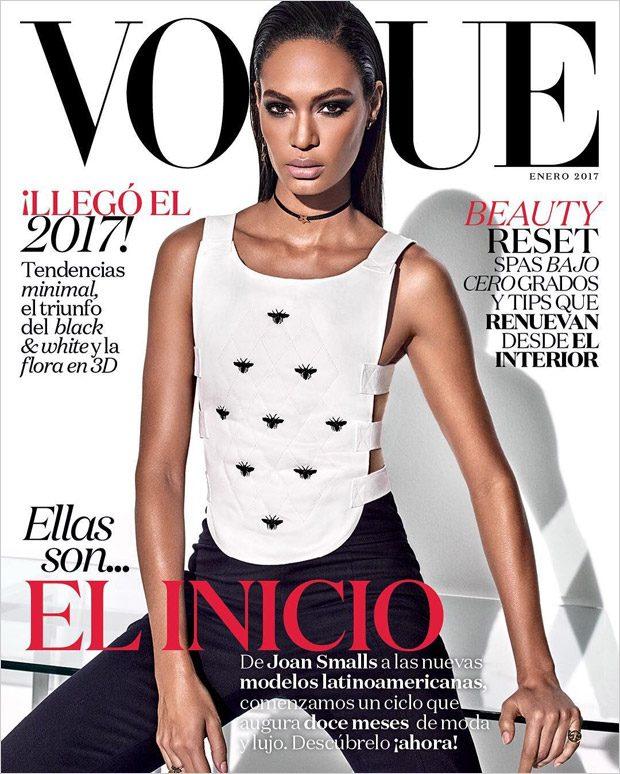 Joan Smalls & Mariana Zaragoza Cover Vogue Mexico January 2017 Issue (3 pics)