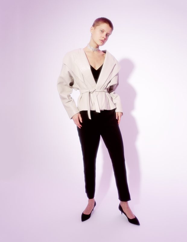Jewerely MARIA STERN Leather jacket stylist owns Top Juicy Couture Shoes Zara Pants Cristina Effe