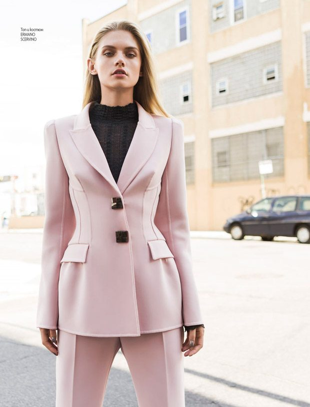 Martina Dimitrova Stars in Elle Bulgaria January 2017 Cover Story