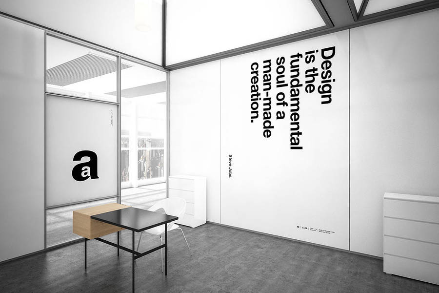 Typographic Posters made with Helvetica Font