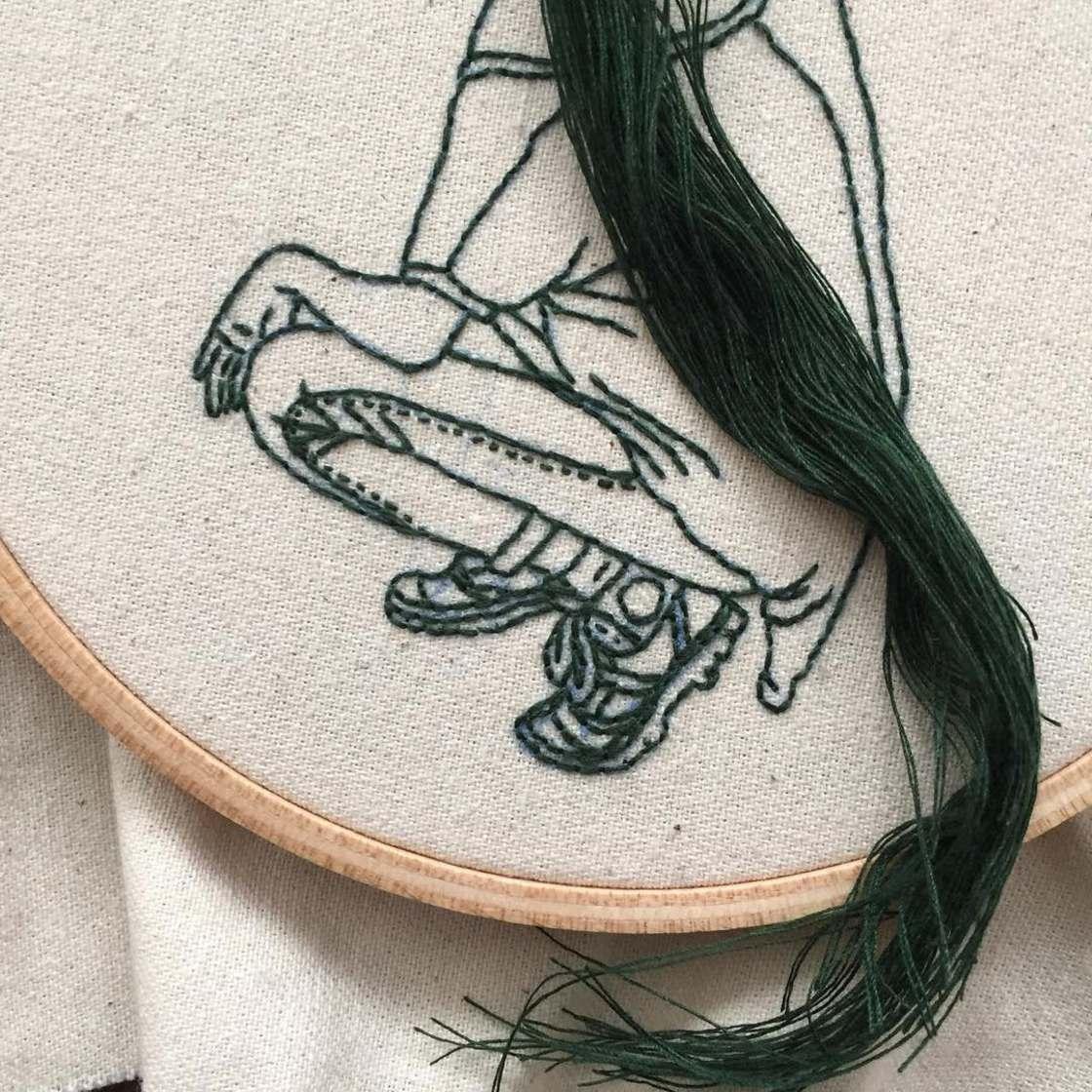 Les delicates broderies de Sheena Liam