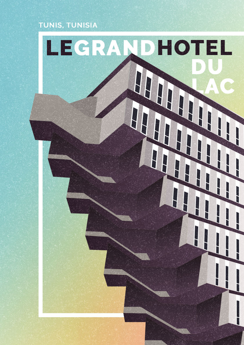 Dazzling Illustrations of Brutalism Architecture