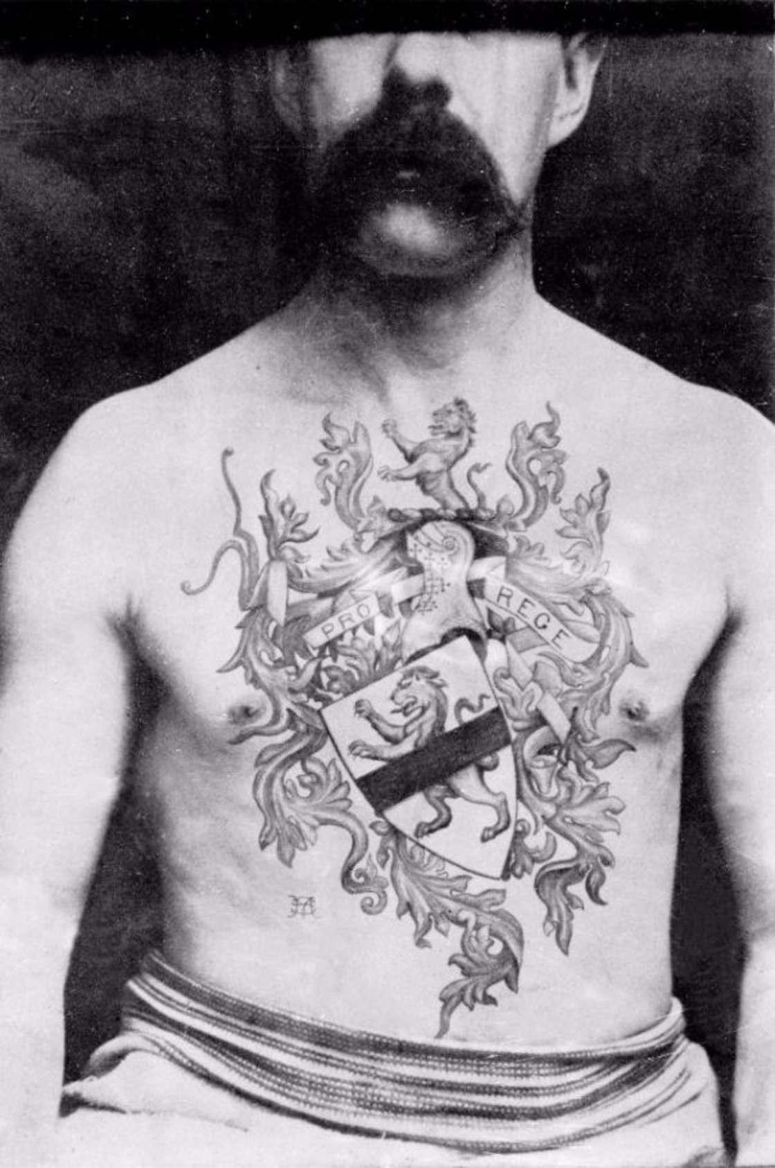 History of Tattoos - Les tatouages du premier artiste anglais en 1889