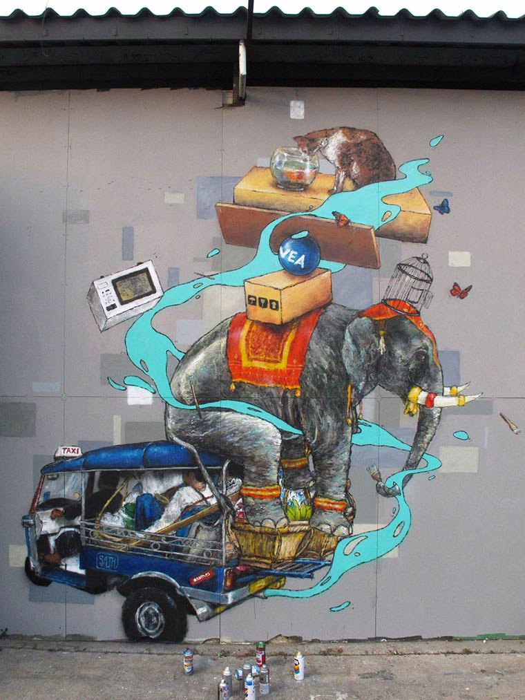 Street Art - The amusing creations by Sath