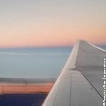 рассвет из окна самолета