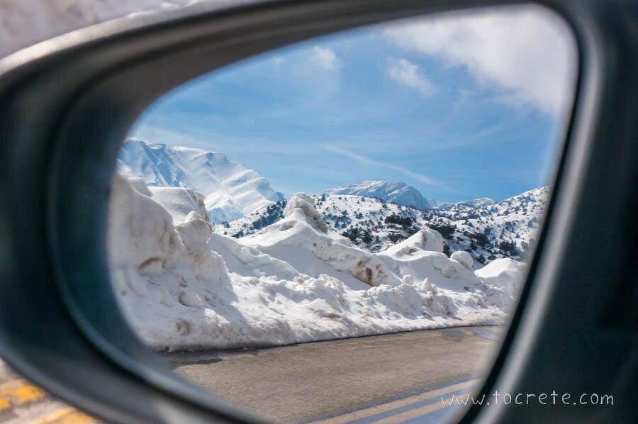 Заснеженный Крит. По дороге на плато Омалос