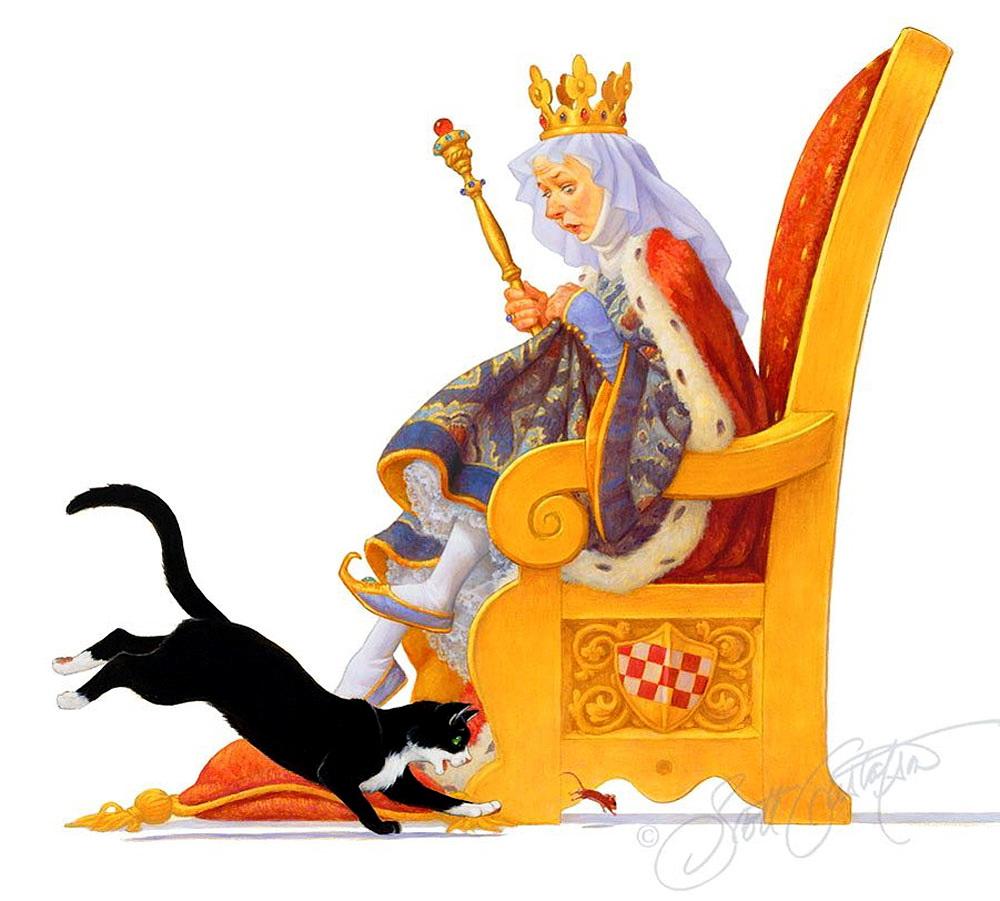 Королева на троне картинка для детей