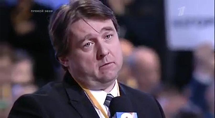 Антон Верницкий задаёт вопрос Президенту В. Путину о Сирии,15 января 2016-го года