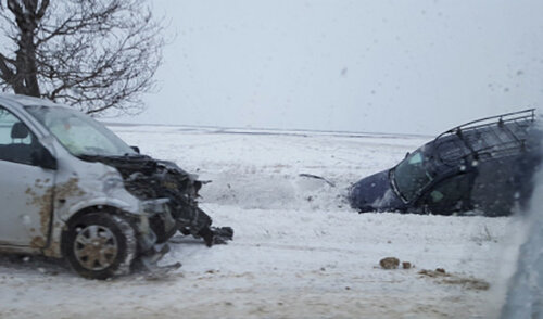 ДТП на трассе Бельцы - Кишинёв - лобовое столкновение