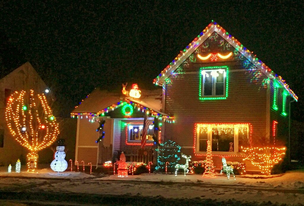 Christmas yard displays.
