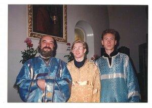 Отец Станислав, Дионисий и Александр Четков.